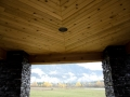 Tongue and groove cedar soffit installed by Z-KO Construction